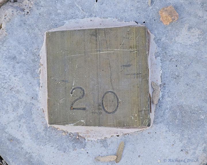 Maintenance marker at Water Ranch