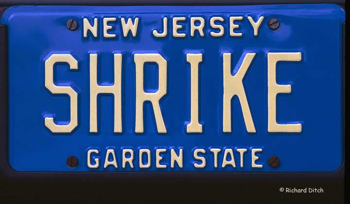 NJ Vanity Plate