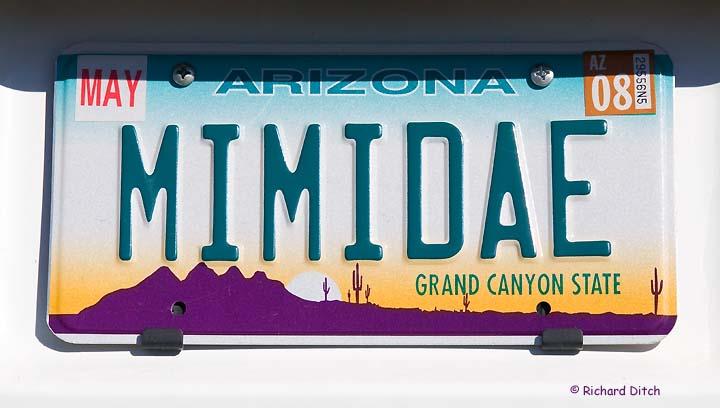 MIMIDAE vanity plate