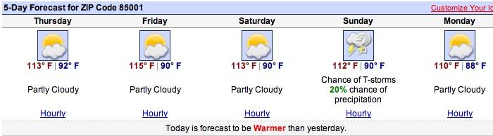 Phoenix Forecast
