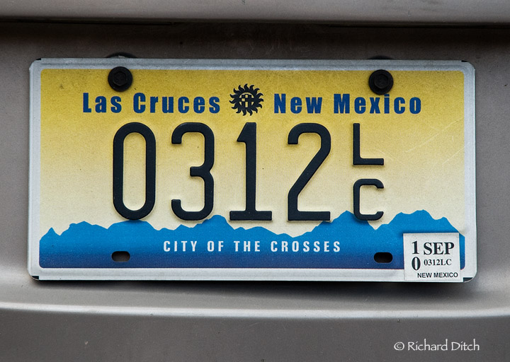 Las Cruces New Mexico plate