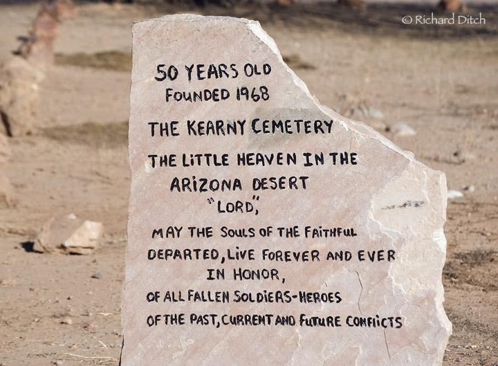 Kearny Cemetery Sign