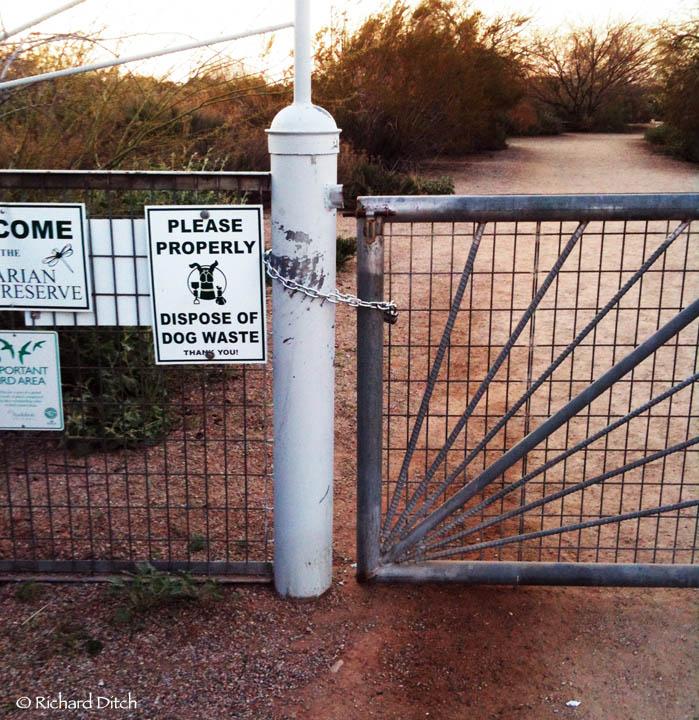 Locked Gate at Gilbert Water Ranch
