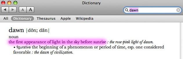 Definition of Dawn