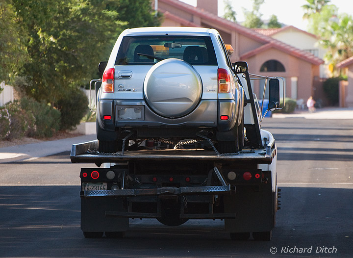 RAV4 on flatbed